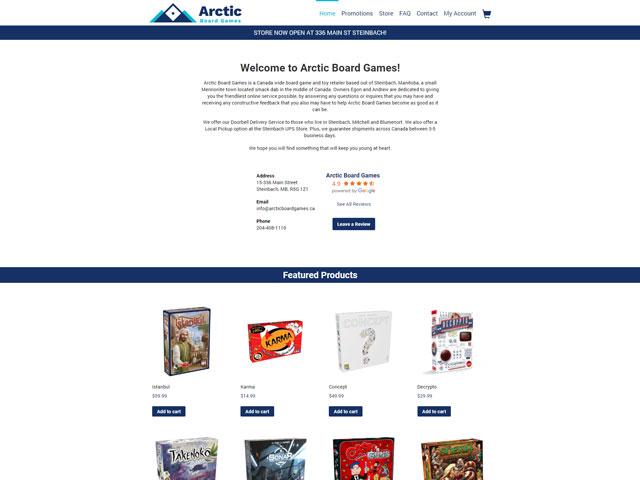 Arctic Board Games Website