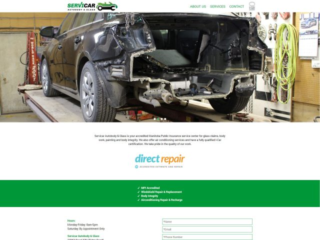 Servicar Autobody & Glass Website