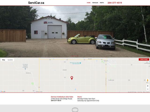 Servicar Autobody Website